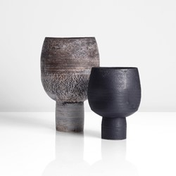 Hans Coper | 'Cup on Stand', circa 1975 & 'Cup on Stand', circa 1972