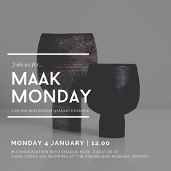 Maak Monday with Charlie Park | 4 January 2021